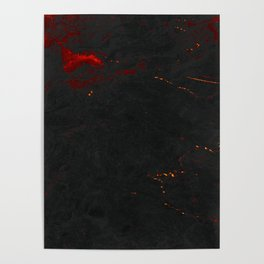 Magma Marble Poster