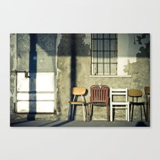 Lonely Chairs #1 Canvas Print