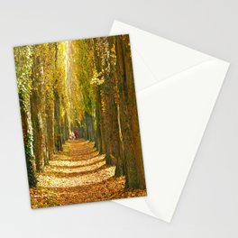 A Walk in the Poplars Stationery Cards