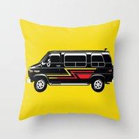 van Throw Pillows featuring Classic Van by Eyes Wide Awake