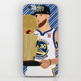 Steph Curry 3 time champion iPhone Skin