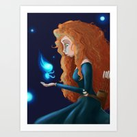be brave Art Prints featuring Brave  by Paula Birrell