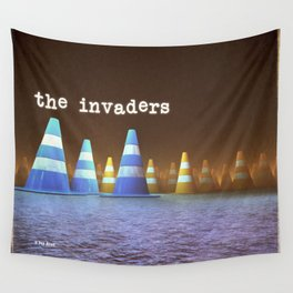 Gang of Cones  - The Invaders Wall Tapestry