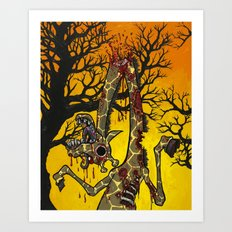Zombiraffe Art Print