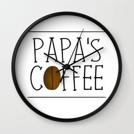 Papa's Coffee Wall Clock