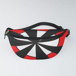 optical pattern 64 Circle red and black Fanny Pack