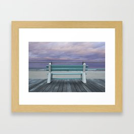 Jersey Shore Bench Framed Art Print