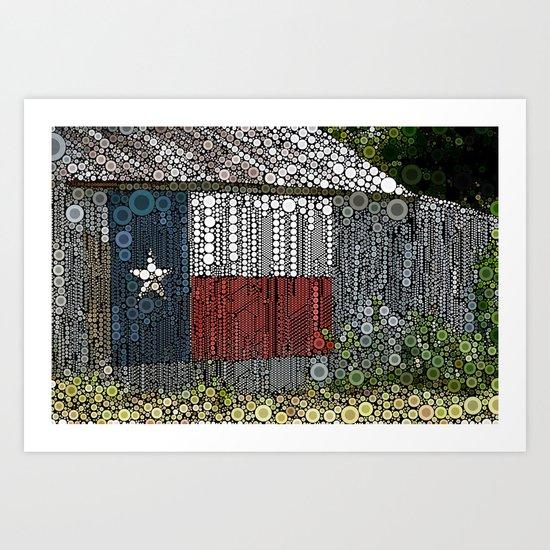 Texas Pride Art Print