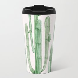 Three Amigos Pink + Green Travel Mug