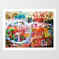 Lennon Wall - All You Need Is Love - Peace Art Print