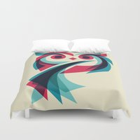 owl Duvet Covers featuring Owl by Jay Fleck