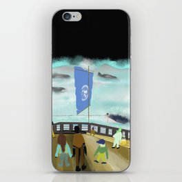 Watching Whales iPhone Skin