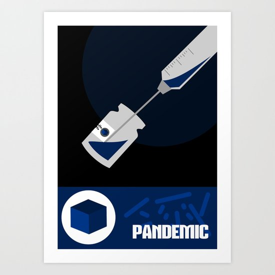Pandemic - Blue  Art Print