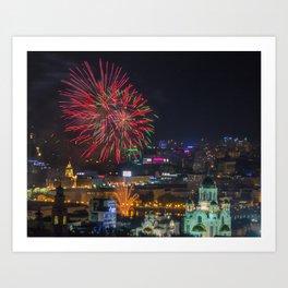 Firework collection 2 Art Print