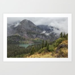 Grinnell Lake from the Trail No. 1 - Glacier NP Art Print
