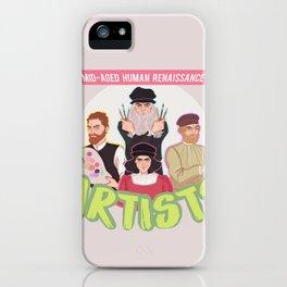 Mid-Aged Human Renaissance Artists iPhone Case