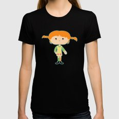 Pippi LARGE Black Womens Fitted Tee