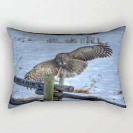 Great Grey Arriving Rectangular Pillow