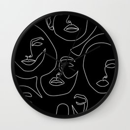Faces in Dark Wall Clock