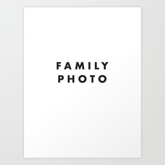 Family Photo Art Print