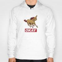 okay Hoodies featuring OKAY by Thomcat23