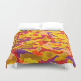 Crescent moon and birds Duvet Cover