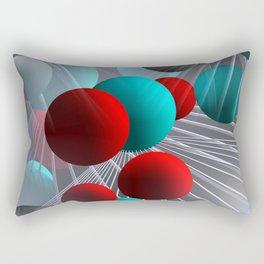 crazy lines and balls -21- Rectangular Pillow