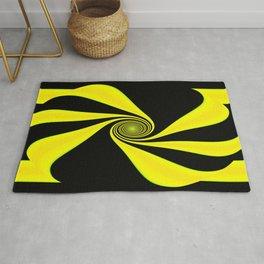 Abstract. Yellow+Black. Rug