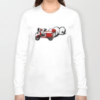 vespa Long Sleeve T-shirts featuring Vespa by absoluca