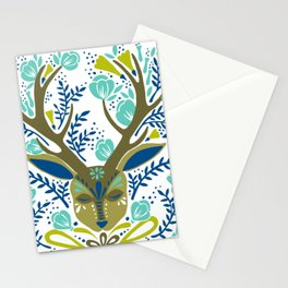 Floral Antlers – Earth Tones Palette Stationery Cards