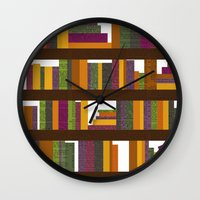 books Wall Clocks featuring Books by Sara Robish Andrews