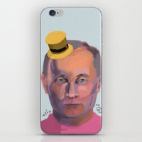 putin iPhone & iPod Skins featuring Putin on the Ritz by Kervin