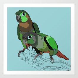 Mertie and Gertie Art Print