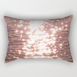 Sun glitter - blush gold Rectangular Pillow
