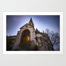 Église Saint Georges in Lyon, France Art Print