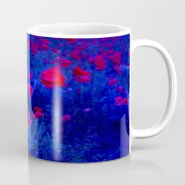 Red in Blue Coffee Mug
