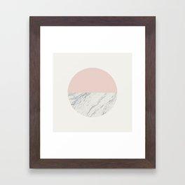 Moon Marble Framed Art Print
