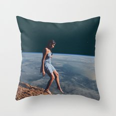 Going to Unknown World Throw Pillow