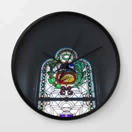 Stained Glass, Monastery, Arequipa, Peru Wall Clock