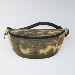The Charter Oak - Connecticut by Charles De Wolf Brownell Fanny Pack