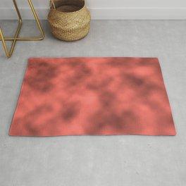 Pantone Living Coral Metal Foil Smooth Texture Blend Rug