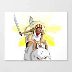 Andrea Bonifacio: San (Princess Mononoke) x Bonifacio x Gabriela Silang Canvas Print