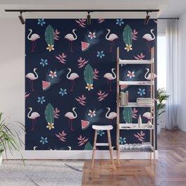Flamingo Pattern 4 Wall Mural