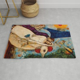 The Betrothed and Eiffel Tower by Marc Chagall Rug
