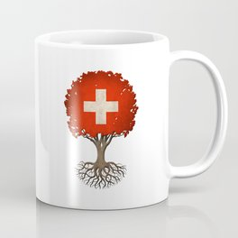 Vintage Tree of Life with Flag of Switzerland Coffee Mug