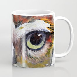 Burrowing Owl Palette Knife Painting in Oil by Award Winning San Francisco Bay Artist Lisa Elley Coffee Mug