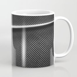 Elegant silver pigeon feather texture Coffee Mug