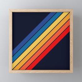 Medussa - Classic Colorful 70s Vintage Style Retro Summer Stripes Framed Mini Art Print