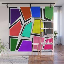 Colors Embossed -  Classic 1960's Design Aesthetic Wall Mural