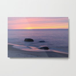 Lake Superior Sunset neat Ontonagon, Michigan Metal Print